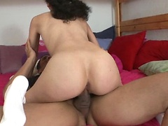 Alana rides that cock as her delectable ass bounces.