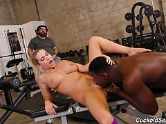 Sexy wife Christie Stevens fucked by black dude