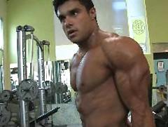 Bodybuilder Tony Searle shows his muscles in a gym, Added: 2011-11-25, 00:00:21