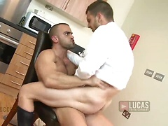 Damien Crosse strips off Davidenko Lopez's suit, Added: 2011-11-25, 00:00:40