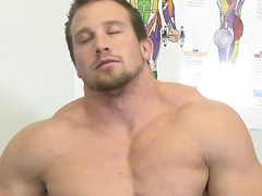 Hunter Manning spends hours working out his hulking muscular body, rock hard ass and beautiful cock.