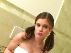 Lil Caprice gets very wet and horny in the shower