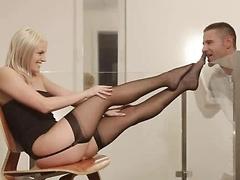 Blanche Bradburry in Nylon-clad Pleasure