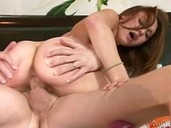 Babysitter Khloe Kush riding cock