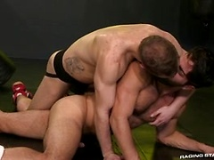 Raging Stallion - Cock Fight! Match 2: Shawn Wolfe & Adam Ramzi