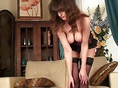 Hairy wife Kate Anne in stockings