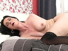 Laura Dark - Mature bitch in black stockings
