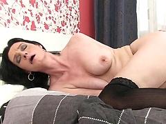 Laura Dark - Mature bitch in black stockings