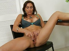 Raven LeChance toying her twat