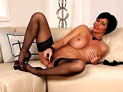 Shay Fox in black stockings