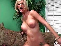 Brooke riding big black cock