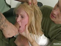 Daddy's Girl - 19 yr old Russian Cutie's House is Invaded by Officers