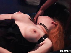 German mistress with huge tits