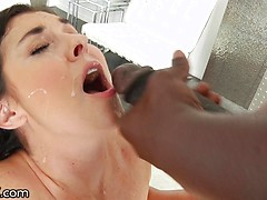 Brittany Shae's 1st interracial ass fuck perfomed by black thug Lexington Steele