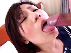 Shizuku Morino Sucking a Dick In the Shower