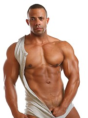 Black bodybuilder Rico shows cock