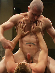 A bodybuilder and a hot stud fight for total domination. Winner will celebrate with a victory fuck... loser will have his hole pounded in humiliation.
