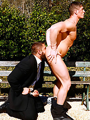 Carlo Masi and Eric Valentin fucking outdoors