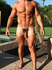 Muscle boy posing naked