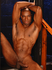 Ebony muscled god Adam Dexter