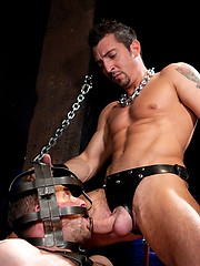 Jimmy Durano and Morgan Black fuck in a dungeons