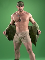 Muscled soldier Craig Reynolds