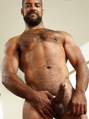 Hairy muscle bear Roman Wright