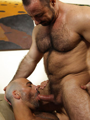 Muscle hunks Rocky LaBarre and Adam Russo fucking each others asses