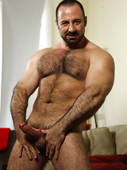 Hairy mature muscle man Rocky LaBarre