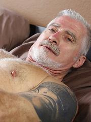 Gray daddy Paul Barbaro naked