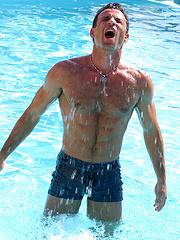 Hot muscle men in a pool