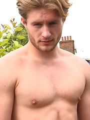 Handsome Straight Lad Aaron Strips on the Roof and gets Covered in Cum!