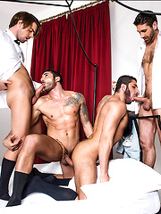 Max Toro, Raul Korso, Craig Daniel, And Zander Craze - Bareback Business Party