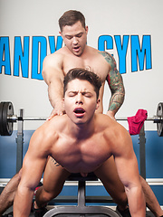 Scotty Marx and Caleb Strong have hot gay fuck in the gym