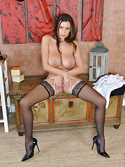 Naughty secretary teases her cock hungry pussy until she cums - Free porn pics. Sexhound.com