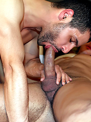Both Henry Samson and Jack Masters need to fuck some hot ass after sucking each other off