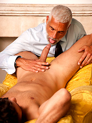 Mature master and his sexy boy