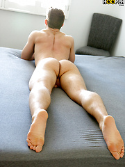 Fit All-American Nick Paul JERKS His UNCUT Cock