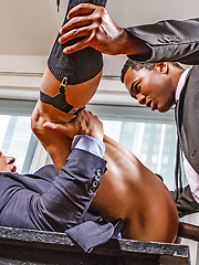 Sean Xavier And Alexander Volkov - Interracial Sex In Suits