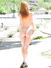 Lacie outside in pink - Free porn pics. Sexhound.com