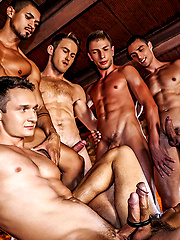 Ibrahim Moreno's Bareback Double-penetration Orgy