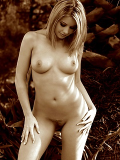 Ashley Brookes in a timeless black and white photo set
