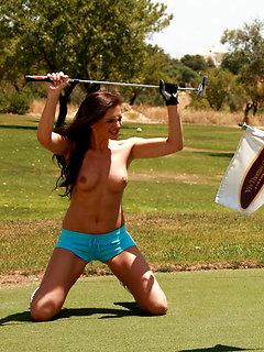 "Jo & Sandra Shine: ""Topless Golfing"" by Viv Thomas"