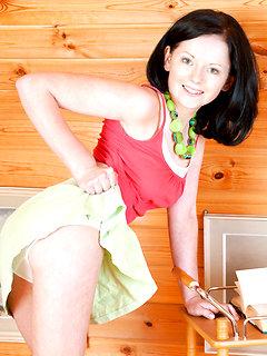 Lovely girl stripping
