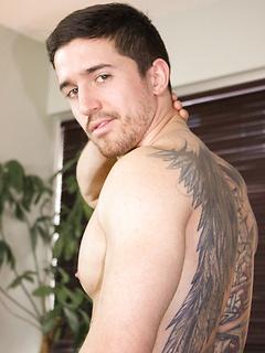 Tattooed Gay Muscle Men Posing Naked & Fucking